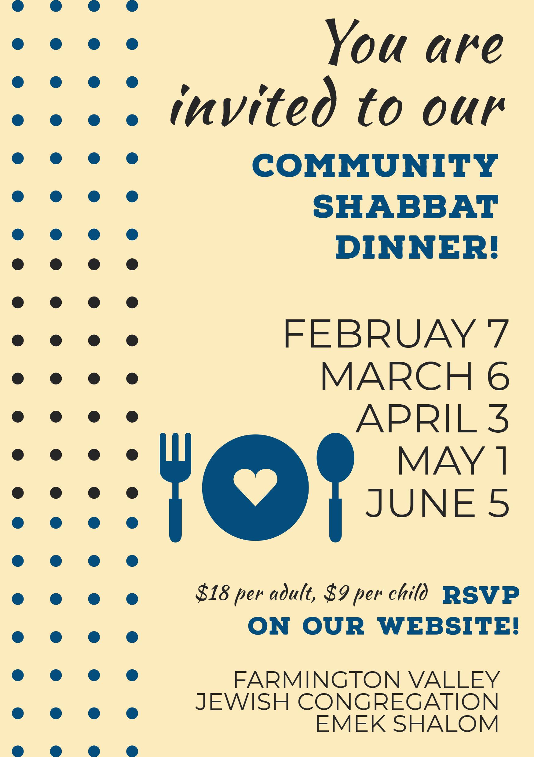 Shabbat Dinners February 2020 (1)