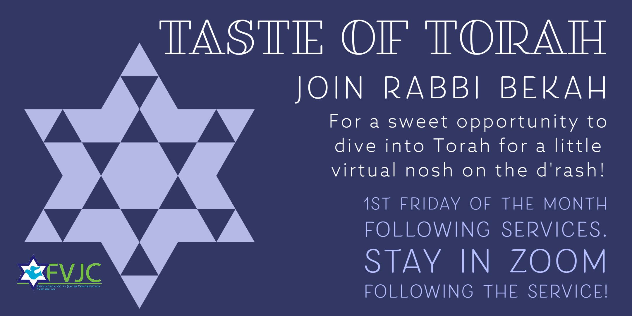 Taste of Torah website