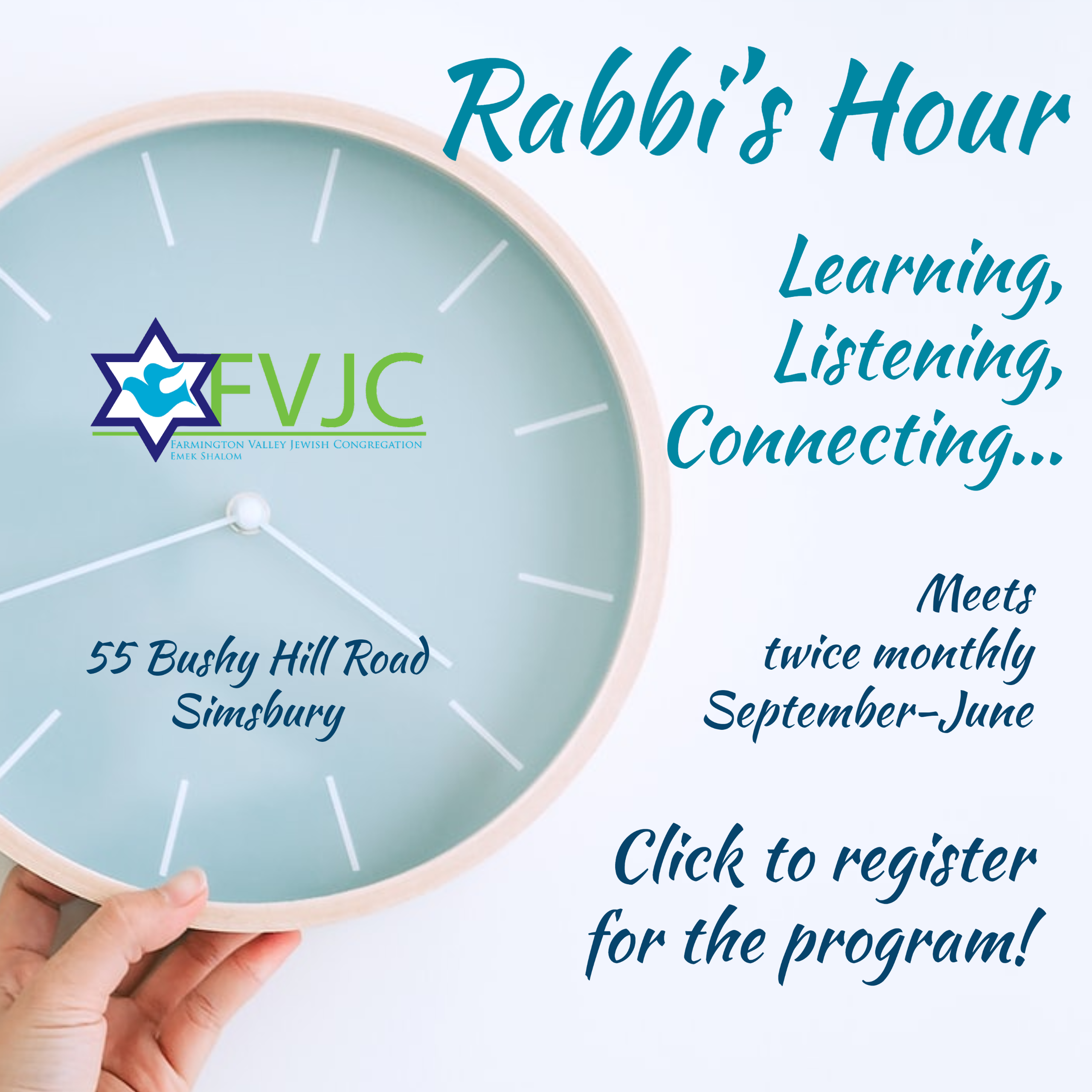 Rabbi's Hour Join us Copy